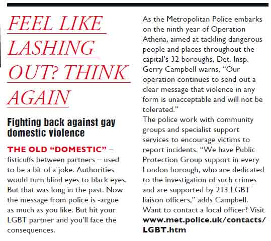 Article from QX magazine