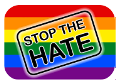'Stop the hate' logo